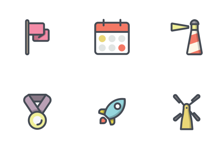 Mix Bolt Filled Line Icon Pack