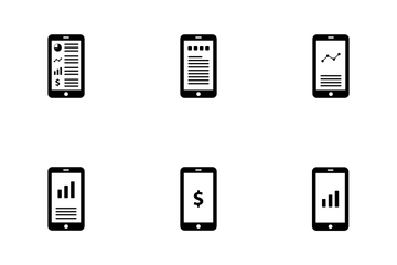 Mobile, Big Data Analytics Icon Pack