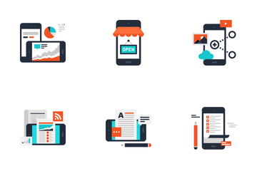 Mobile Apps And Services Icon Pack