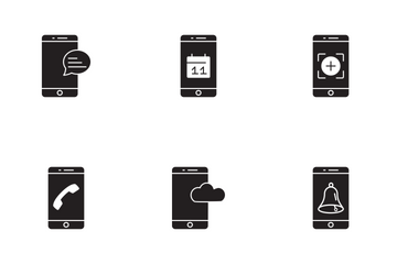 Mobile Apps Glyph Icon Pack