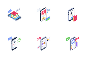 Mobile Learning Icon Pack