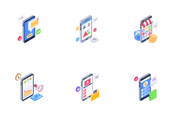 Mobile Marketing Icon Pack