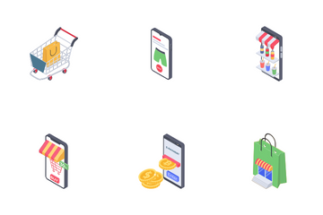 Mobile Shopping Icon Pack