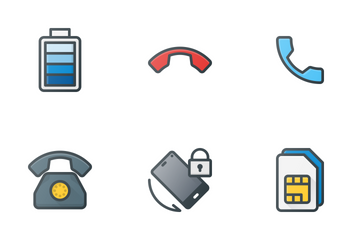 Mobile & Telephone Icon Pack