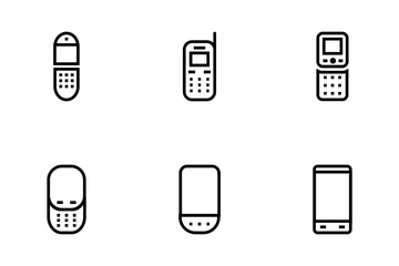 Mobile Vector Line Icons Icon Pack