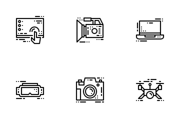 Modern Electronic Device Icon Pack