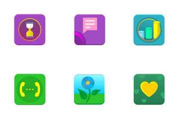 Modern Mobile Icon Set Icon Pack