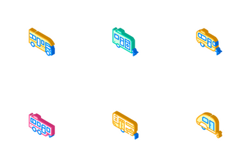 Modular House Trailer Icon Pack