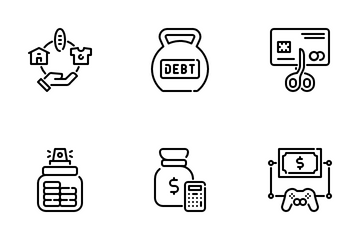 Money Education Icon Pack