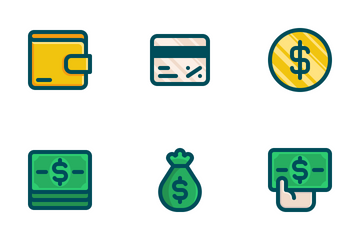 Money Set (colored) Icon Pack