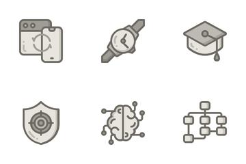 Monochrome Think Creative Icon Pack