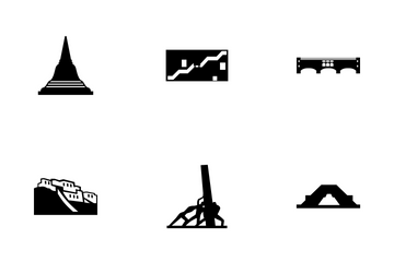 Monuments & Landmarks Glyph Icon Pack