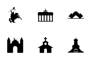 Monuments Vector Icons Icon Pack