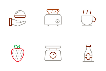Morning Breakfast Icon Pack