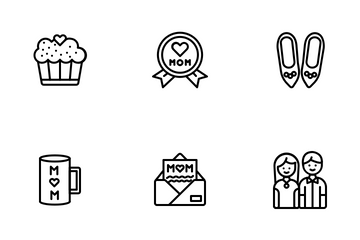 Mother Day (Line) Icon Pack