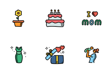Mother's Day Doodles Icon Pack