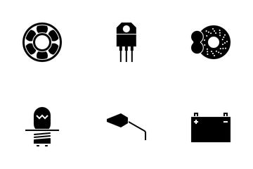Motorbike Parts Dark Icon Pack