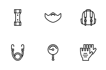 Motorcycle Accessory Outline Icon Pack