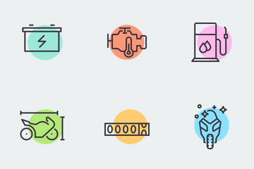 Motorcycle Icons Icon Pack