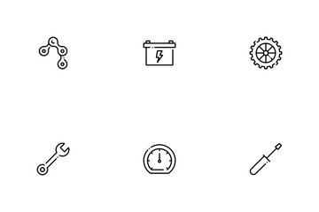 Motorcycle Parts Icon Pack