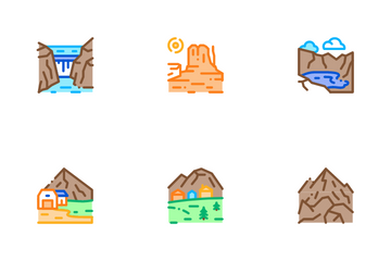Mountain Landscape Icon Pack