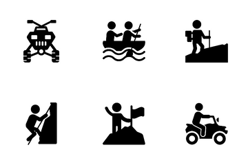 Mountaineering Rafting Icon Pack