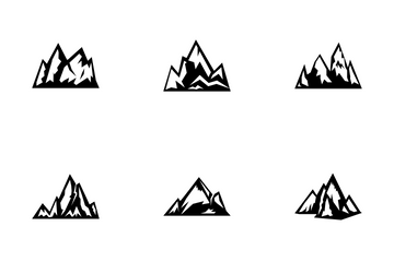 Mountains - Solid Icon Pack