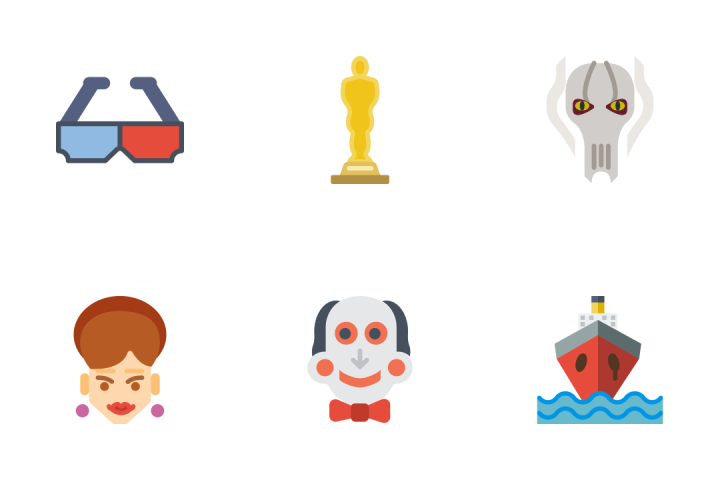 Movie - Flat Icon Pack