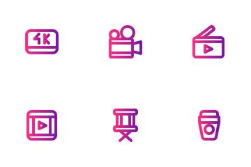 Movie (Gradient) Icon Pack