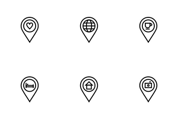 Multi-purpose Vanue Pins For Map Interface Icon Pack