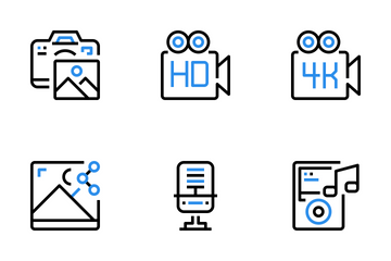 Multimedia And Entertainment  Icon Pack