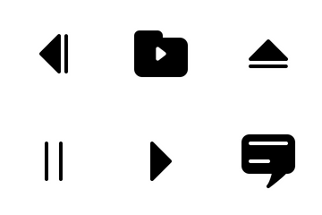 Multimedia Button Icon Glyph  Icon Pack