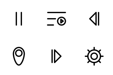 Multimedia Button Icons Icon Pack