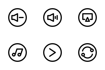 Multimedia Controls Icon Pack