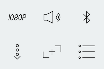 Multimedia Controls - Lines Icon Pack