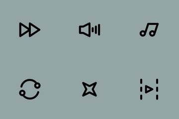 Multimedia Elements 80p Icon Pack