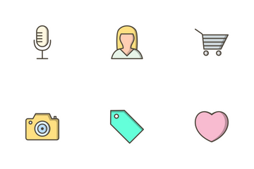 Multimedia Filled Outline Icon Pack