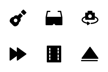 Multimedia Glyph Icon Pack