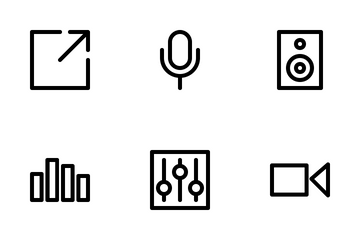 Multimedia (outline) Icon Pack