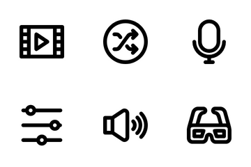 Multimedia Player Icon Pack