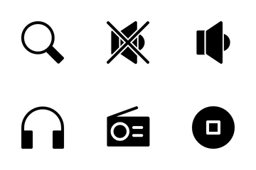 Multimedia (solid ) Icon Pack