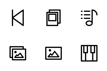 Multimedia Ver 3 Outline Icon Pack