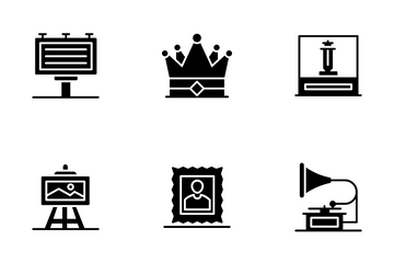 Museum And Exhibition Icon Pack