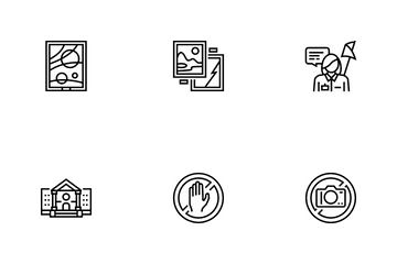Museum Gallery Exhibition Icon Pack