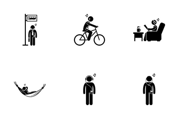 Music Addicted Guy Icon Pack