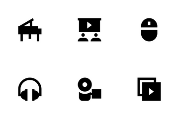 Music, Audio, Video, Cinema And Multimedia Icon Pack