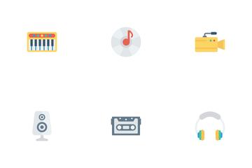 Music, Audio, Video Flat Vol 1 Icon Pack