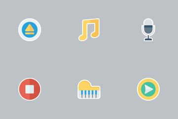 Music, Audio, Video Flat Vol 2 Icon Pack