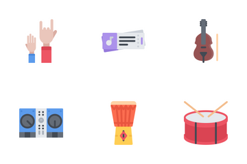 Music Flat Icon Pack