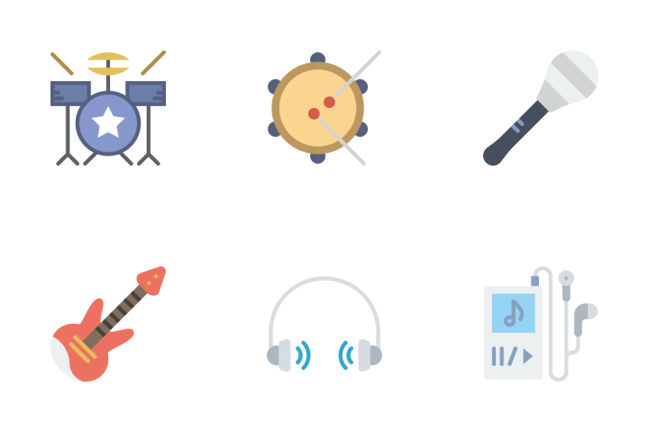 Music - Flat Icon Pack